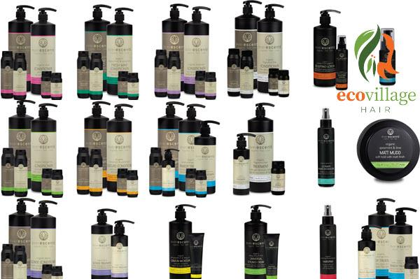 Big range of EverEscents Organic Hair Care products stocked at Bribie Island's Eco Village Hair salon