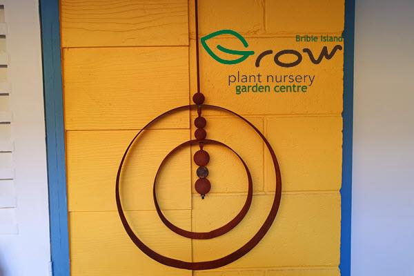 Grow Plant Nursery Garden Centre Bribie Island Moreton Bay Queensland Rusted Wall Hanging Feature Circles